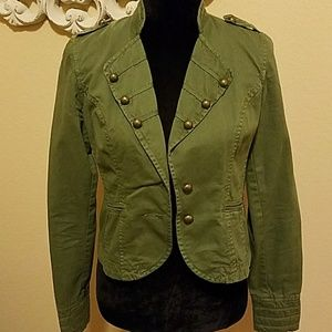 """Gianni Bini""Army Green Jacket with Gold Buttons"